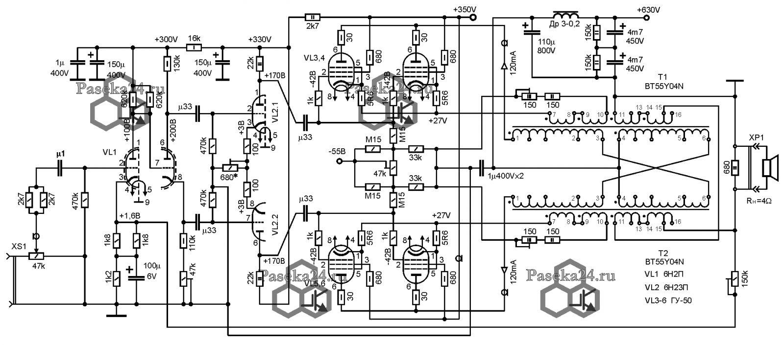 схема высоковольтный генератор тока