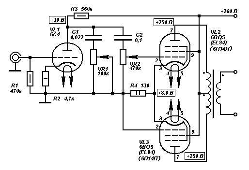 30п1с схемы усилителей