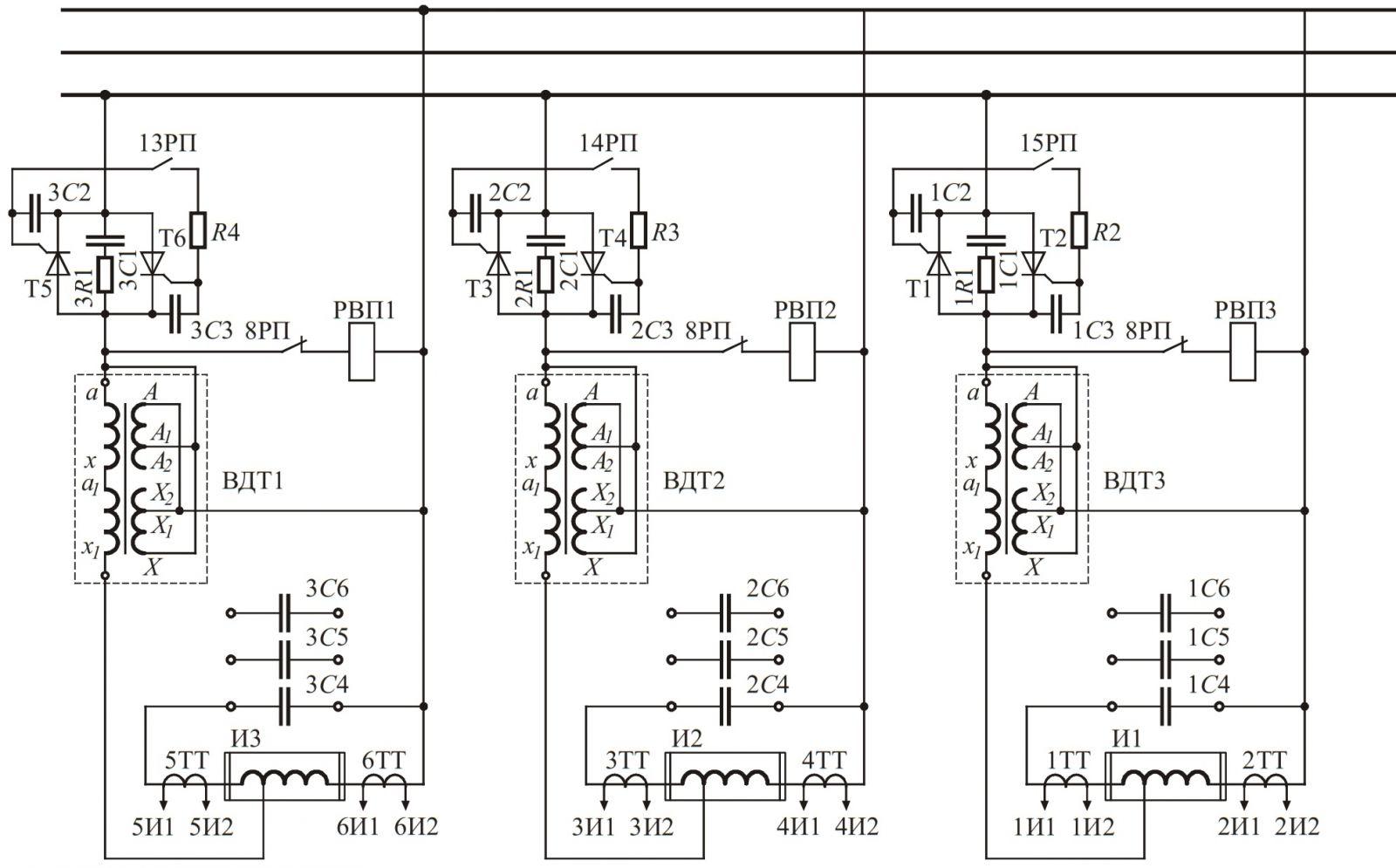 индуктор схема подключения