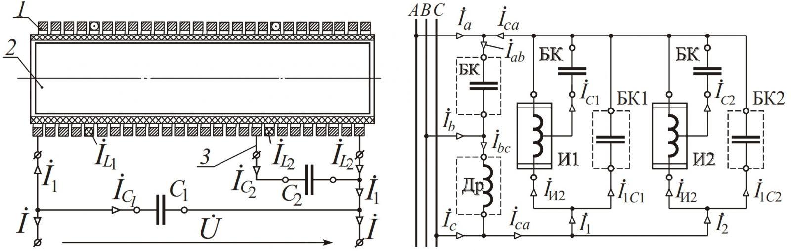 схема нагрузки в трехфазных сетях